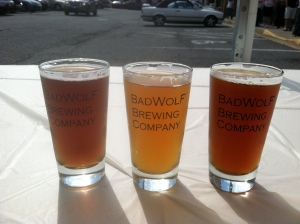 Left to right: There Can Only Be One Pale Ale, Idea Golden Ale, Not Bad Brown Ale